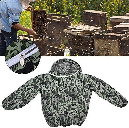 Acogedor プロ防護服 、防護服、蜂用防護服 、帽子あり、養蜂用の防護服、良く通気性、耐摩耗性と耐久性に優れる、害虫駆除、蚊虫対策