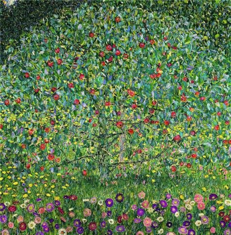 Oil Painting 'Gustav Klimt-Apple Tree,1912', 18 x 18 inch / 46 x 46 cm , on High Definition HD canvas prints is for Gifts And Garage, Hallway And Living Room (All Star Motors Halloween)