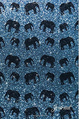 Journal: Faux misty blue glitter elephant notebook ebook