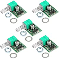 HiLetgo 5pcs Mini 3W+3W DC 5V Audio Amplifier