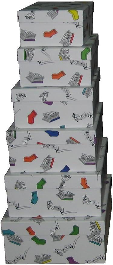 Vilys House Cajas cartón Decoradas con Dibujos de Mis Cosas. Set ...