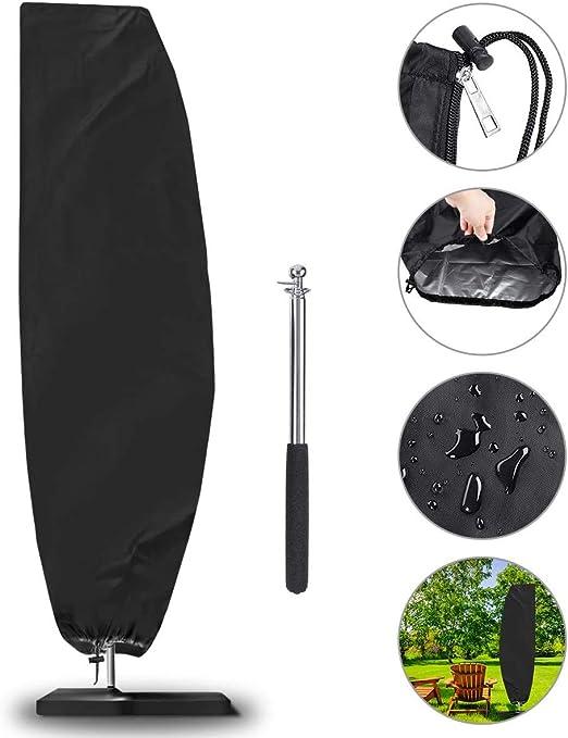 Funda Protectora de parasol, NASUM Cobertura Impermeable para Sombrillas(Diámetros 2-4m), Impermeable, Antipolvo, Resistente a los Rayos UV/Resistente a la Intemperie, (265 * 50 * 70 * 40cm): Amazon.es: Jardín