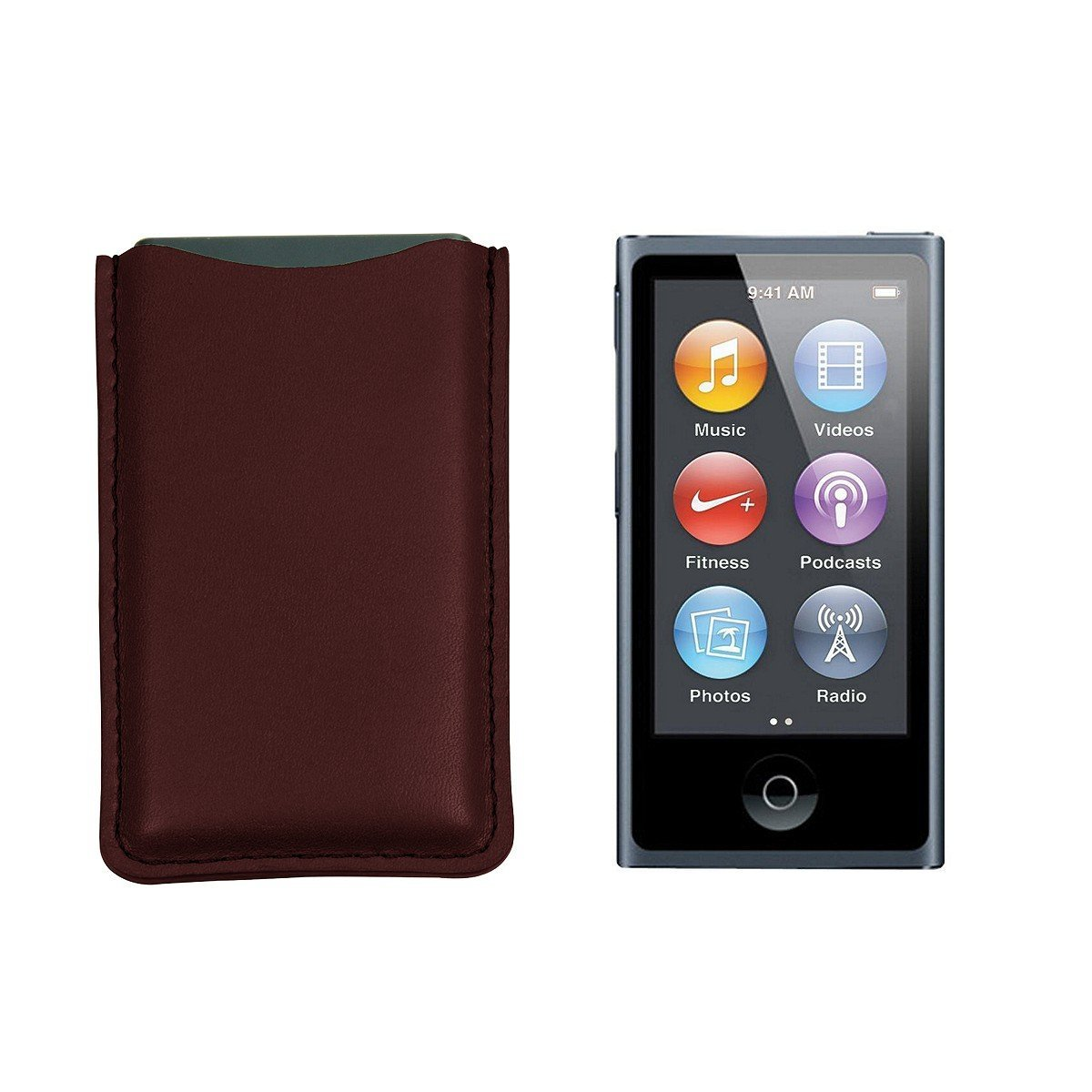 Lucrin - iPod Nano Pouch - Burgundy - Smooth Leather