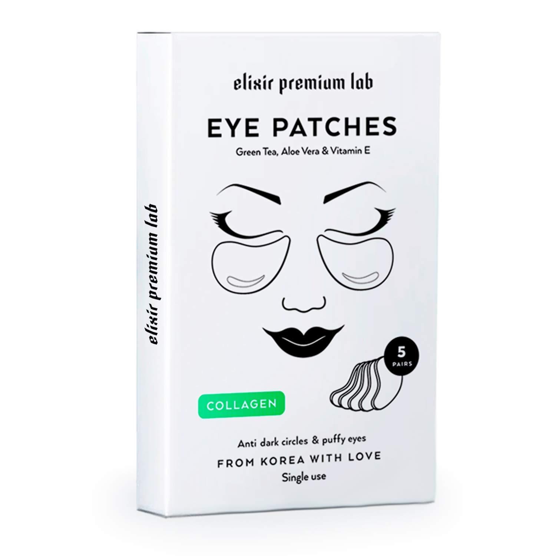 Collagen Eye Patches - Moisturizing Under Eye Pads - Anti Puffines & Dark Circles Spa Treatment - Best Hydrogel Eye Moisturizer for Women & Men - Gel Patch for Dry Skin Under Eye Zone (3 Pack)