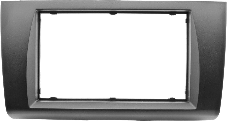 cavo adattatore doppio DIN cornice ISO Mascherina per autoradio Watermark WM-6206XS1 per Suzuki Swift MZ EZ a partire dal 2005