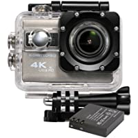 ICONNTECHS IT 4K Ultra HD Cámara deportiva y acción sumergible, lente angular de 170°, Sensor Sony Full HD 1080P, Wifi, accesorios para casco, bicicleta y deportes extremos incluidos gratis