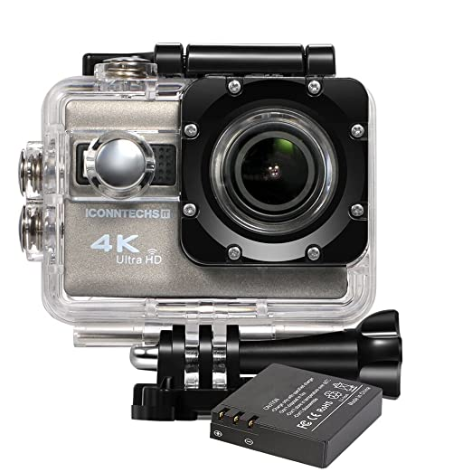 204 opinioni per ICONNTECHS IT Sport Action Camera 4K Ultra HD Impermeabile, Lente Grandangolo