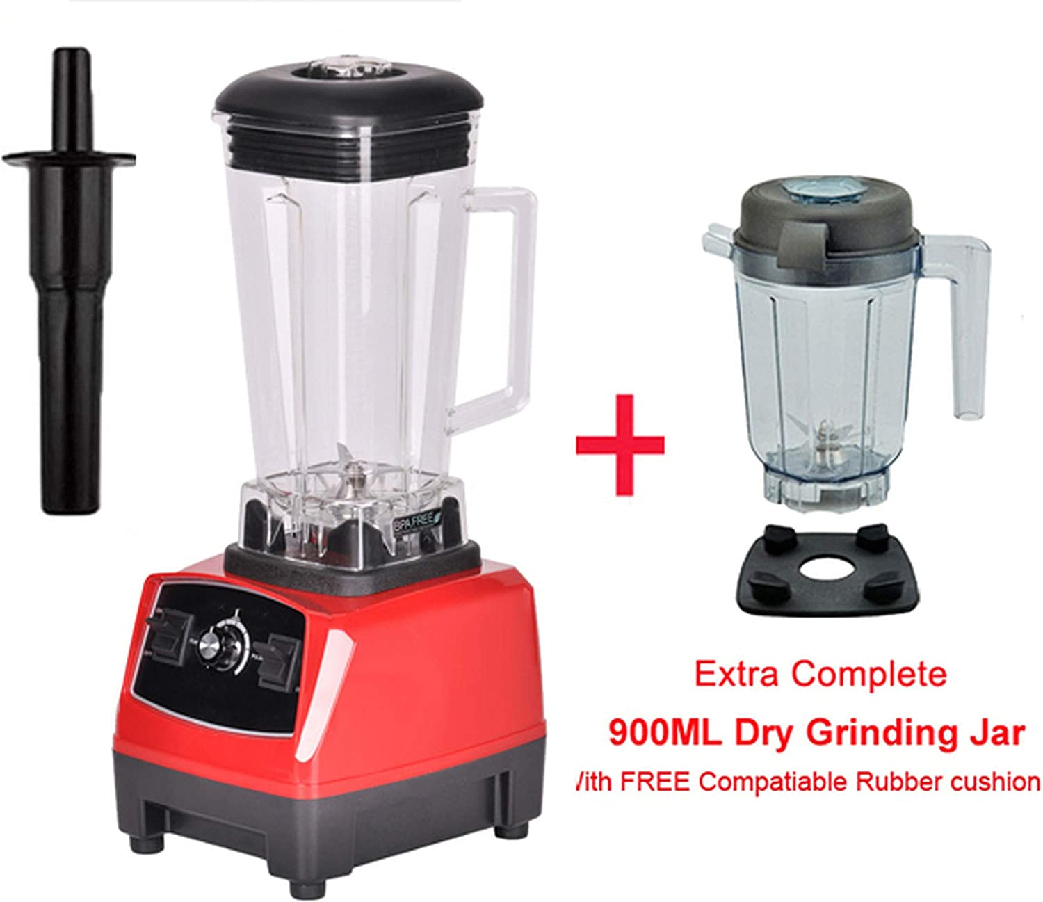 2200W BPA FREE 3HP 2L G5200 high power commercial home professional smoothies power blender food mixer juicer fruit processor,RED EXTRA DRY JUG