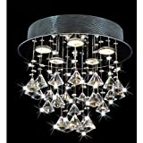 Round Chorus 5-light Chrome Ceiling Chandelier For Sale