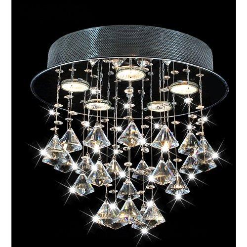 Round Chorus 5-light Chrome Ceiling Chandelier For Sale