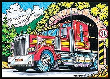 Malvorlage Samtbild Zum Ausmalen Motiv Truck 51 X 38 Cm