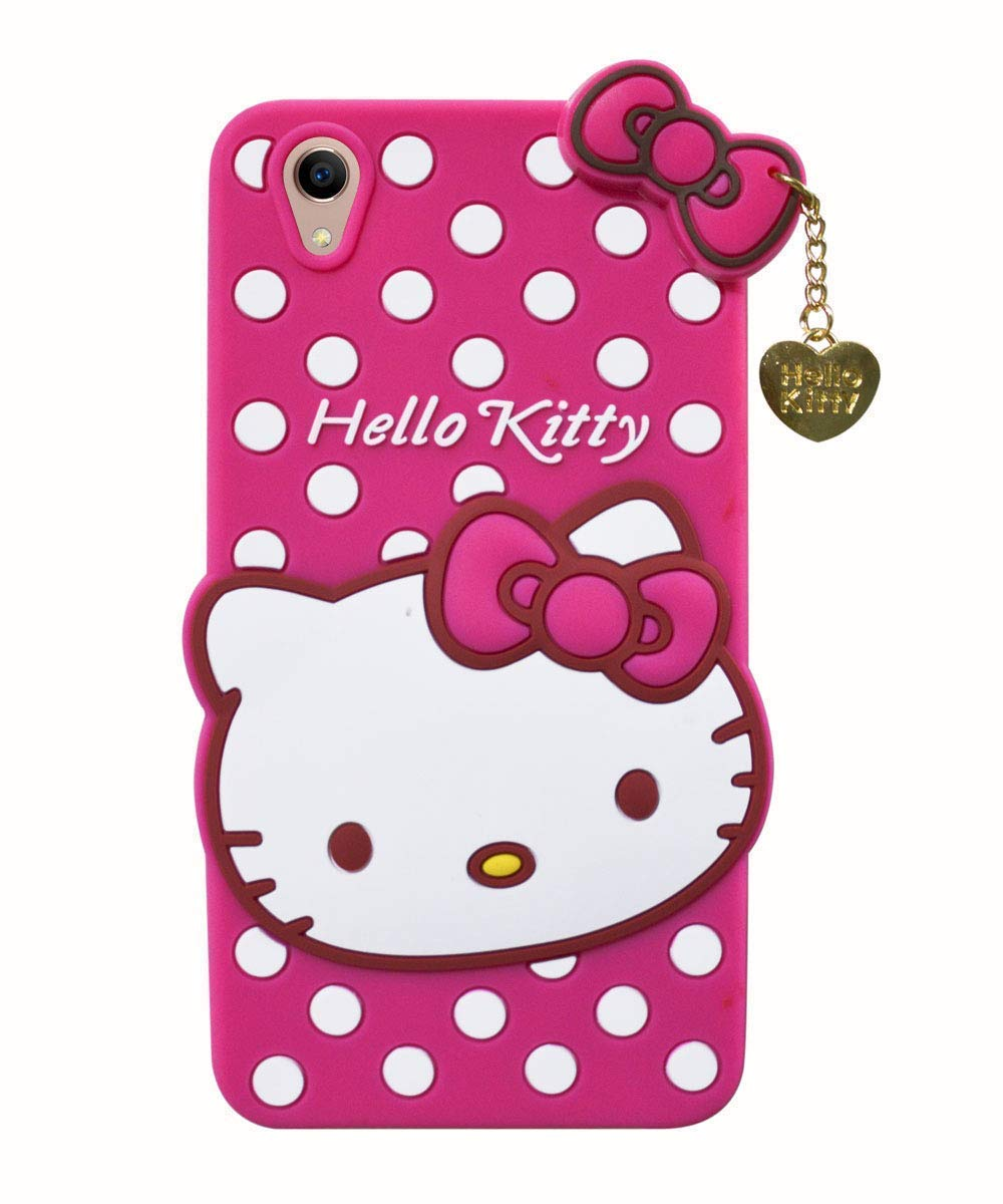 reputable site 6872d bb44f Delkart Nice Cat Cover for Oppo A37 (Pink)