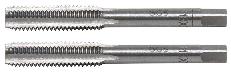 1.0 2-tlg M6 x 1,0 Vor- und Fertigschneider BGS 1900-M6X1.0-B Gewindebohrer