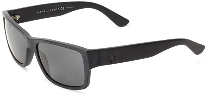 b599b01dbd0c Polo Ralph Lauren 0PH4061 50018757 Square Sunglasses,Matte Black,57 mm