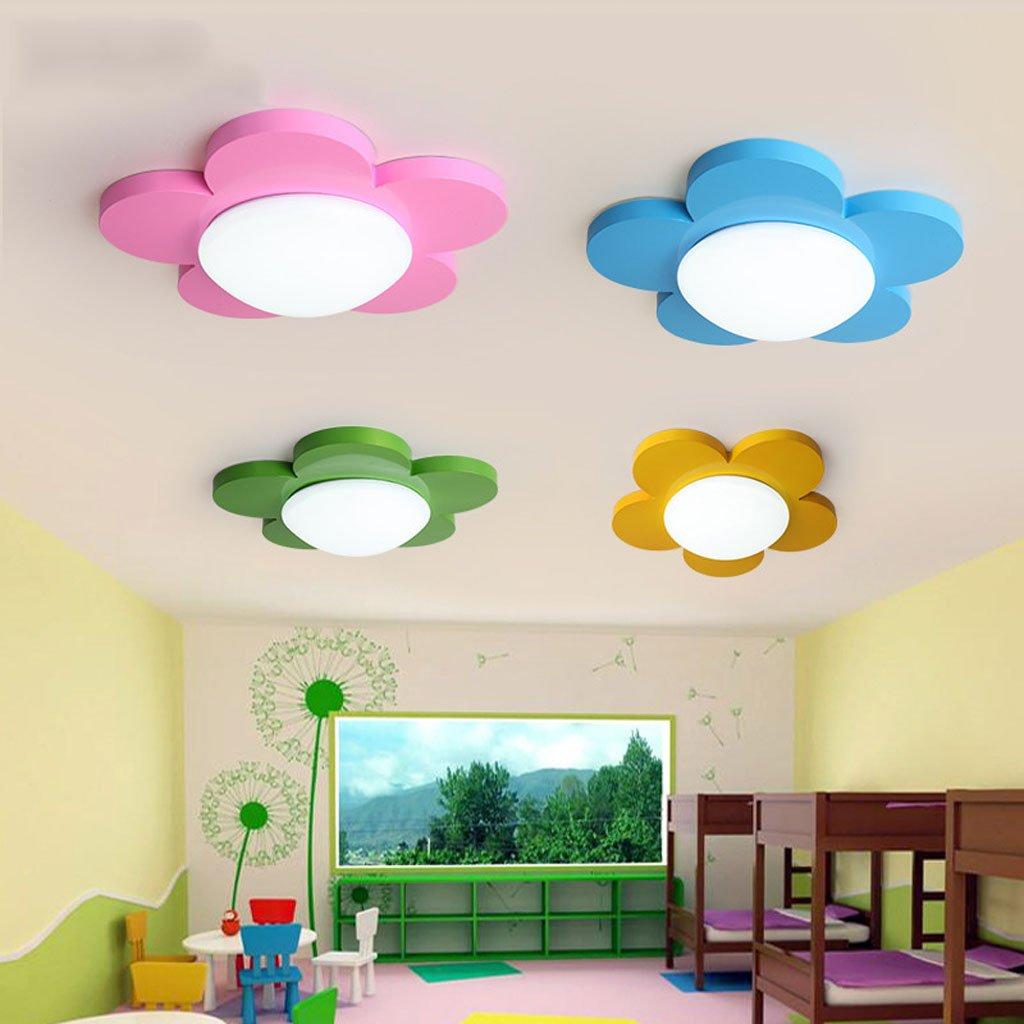 天井の光漫画のひまわりの幼稚園教室のライトは子供の部屋のリモコンを導いた ( Color : Red , Size : B ) B07C9FZBXM  Red B