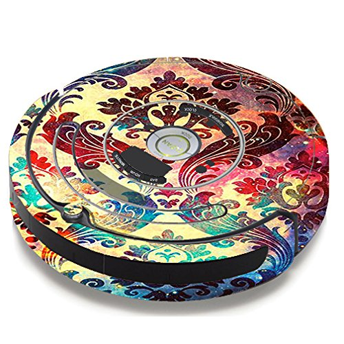 Skin Decal Vinyl Wrap for iRobot Roomba 650 655 Vacuum / Galaxy Paisley Antique by itsaskin1