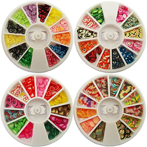 [Happlee 780 Pcs Colorful 3D Decoration Fimo Slices Decal, Mixed Shapes and Sizes on AMAZON for Children & Adult Art Projects, DIY Crafts, Nail Art (Candies, Animals, Bowknot and Solid] (Costumes For Adults Diy)