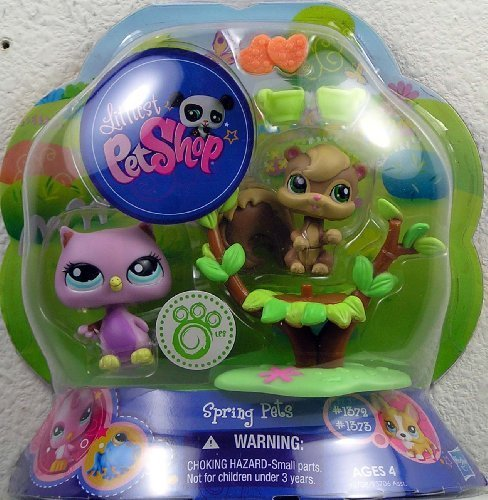 Littlest Pet Shop Spring Pets Pair Owl & Squirrel ()
