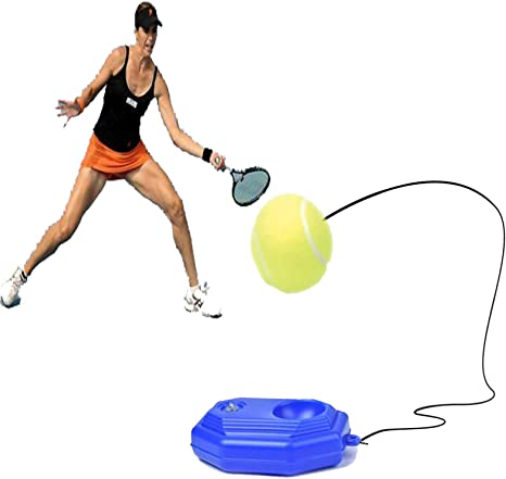 Tennis Trainer Rebounder Ball Trainer Cemented Baseboard With Rope Perfect Solo Tennis Trainer Self Study Tennis Rebound Player Training Aids Practice Great For Beginners And Intermediate Players Amazon Co Uk Sports Outdoors