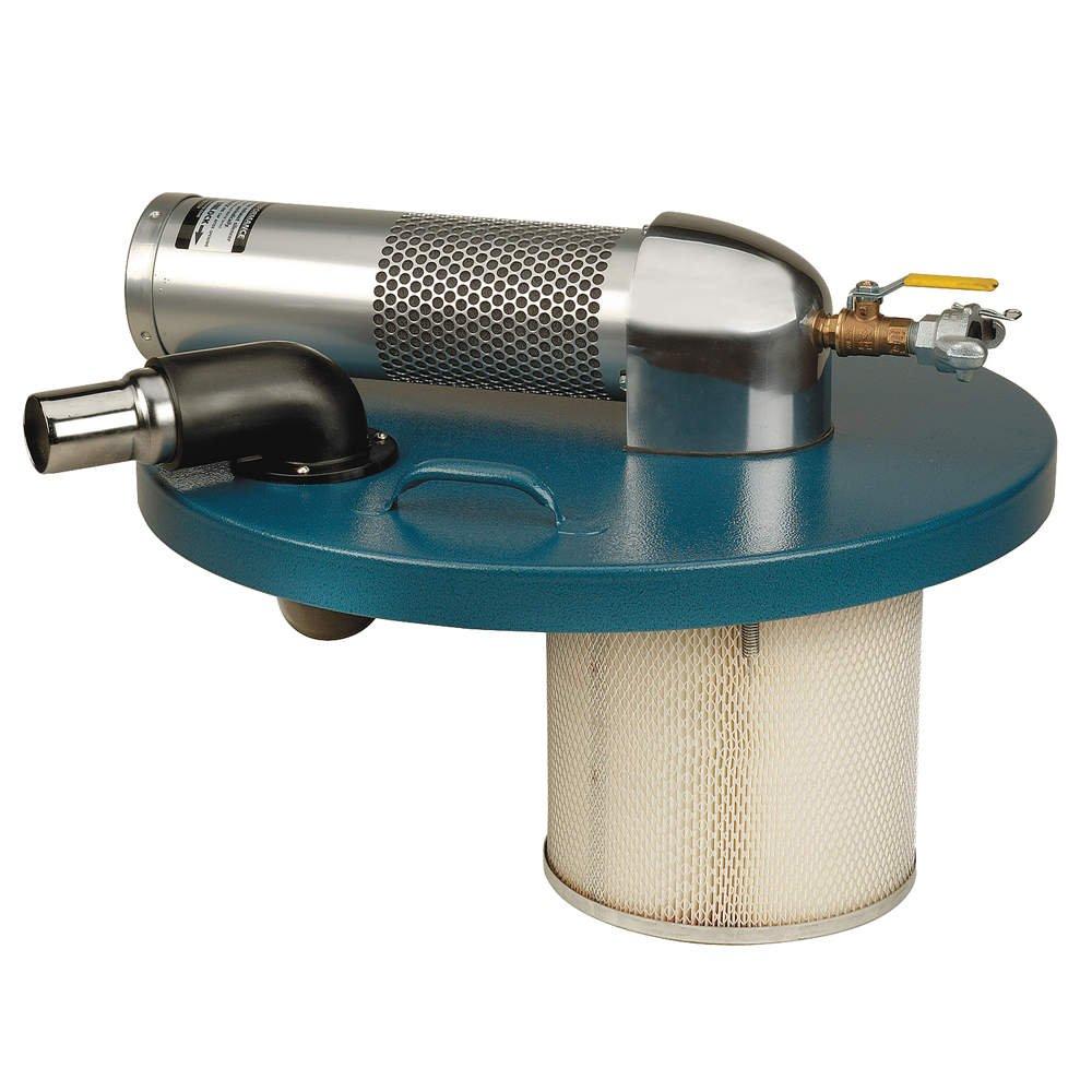 "Guardair Pneumatic Vacuum Generating Head N551BK for Top of 55 Gallon Drum, B Venturi, 2"" Inlet and Attachment Kit"
