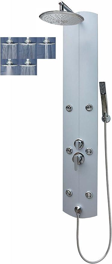 Columna de ducha con ducha panel grandes Lluvia Ducha de Aluminio ...