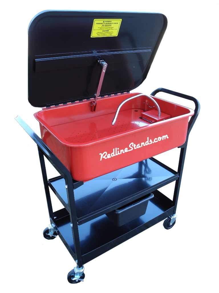 Redline RE20PWR 20 Gallon Rolling Mobile Cleaner Electric Parts Washer