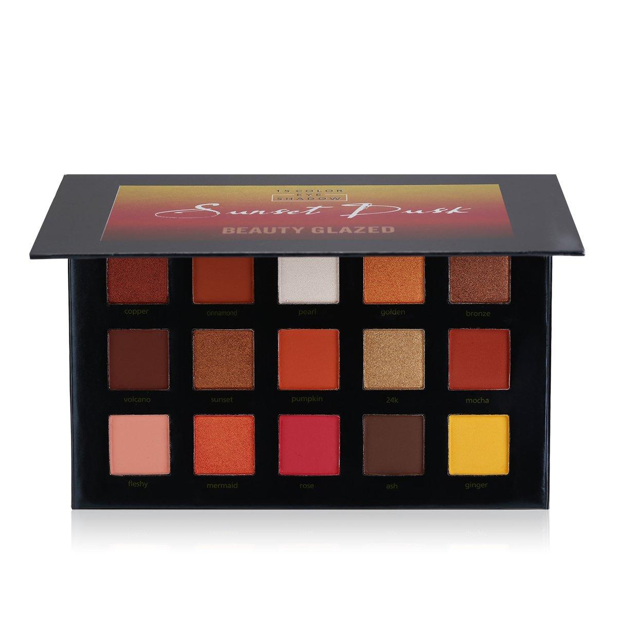 La Sunset Dusk Palette | 15 Couleurs Fards à paupières de BEAUTY GLAZED Palette d'ombre à paupières | SS COSMETICS By SeeSaw. product image