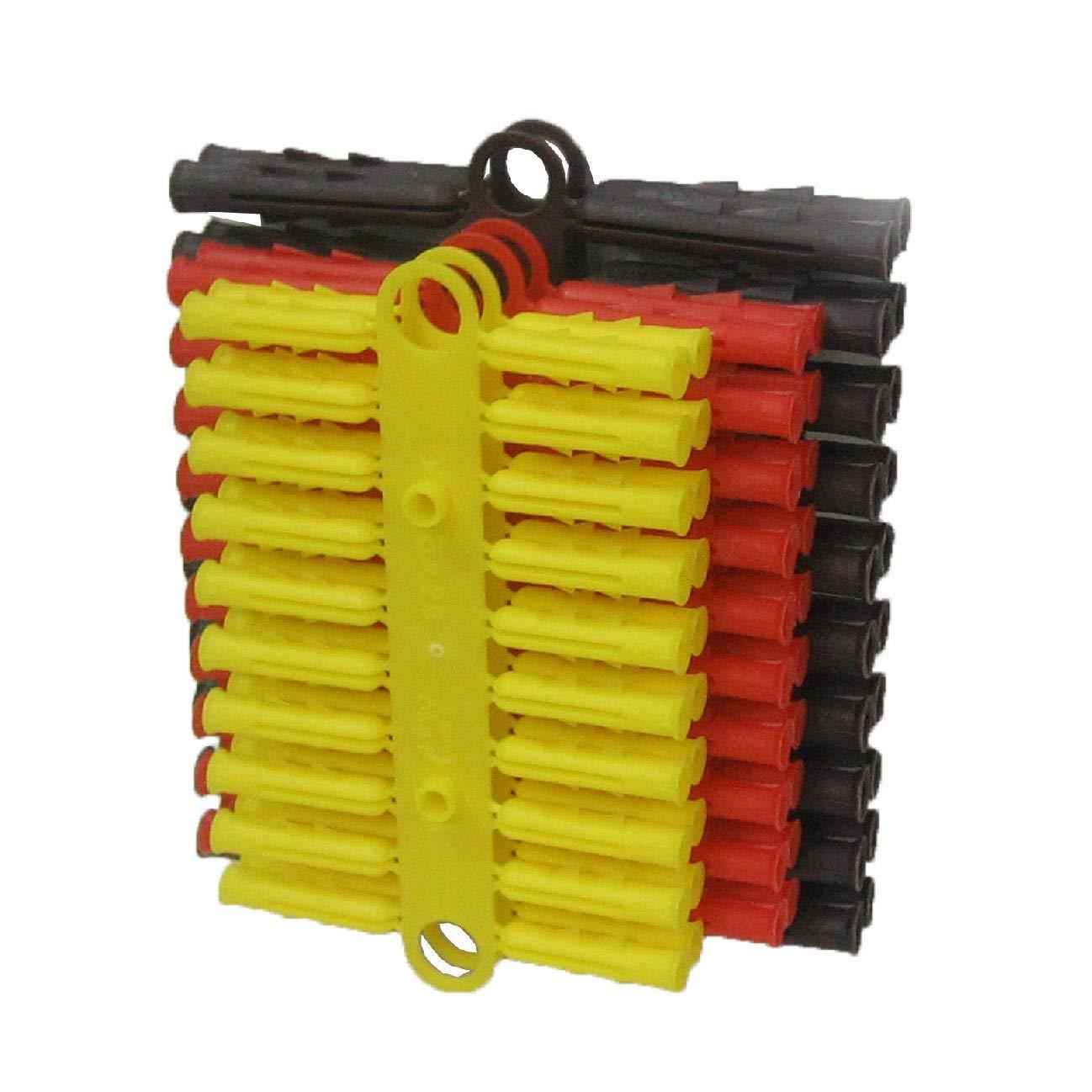 Merriway BH07204 color amarillo rojo y marr/ón varios tama/ños Juego de 40 tacos de pared