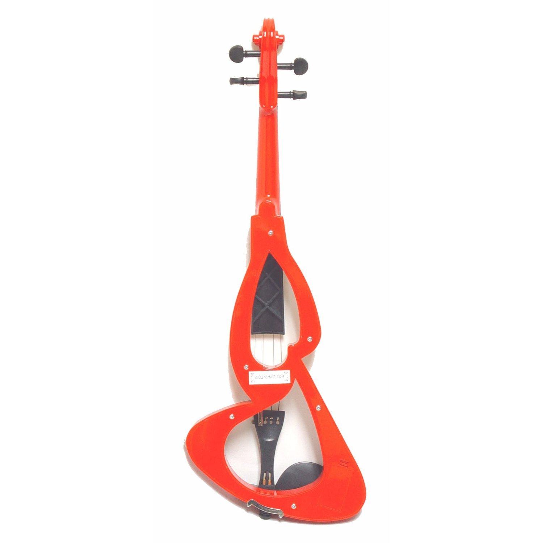 ViolinSmart EV20 Electric Violin (4/4 Full Size, Color: Red) Crescent EV20-RD