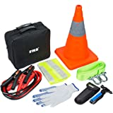 FMS Basic Emergency Roadside Assistance Kit 9 Pieces Emergency Supplies Tool Kit for Car Vehicles and Teen Drivers (M)
