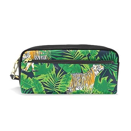 Animal Tiger Jungle Leaves Estuche Estuche Estuche Estuche ...