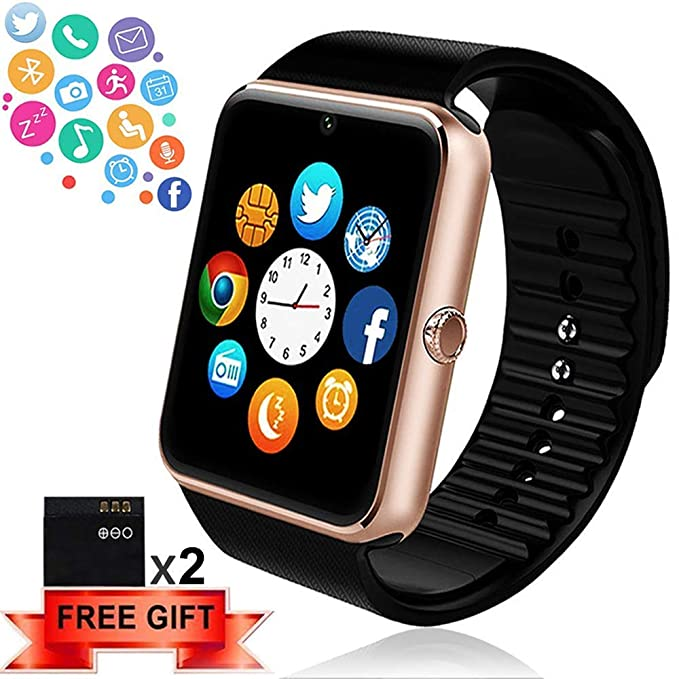 da5ac98492b Bluetooth Smart Watch - ANCwear Smartwatch for Android Phones with SIM Card  Slot Camera