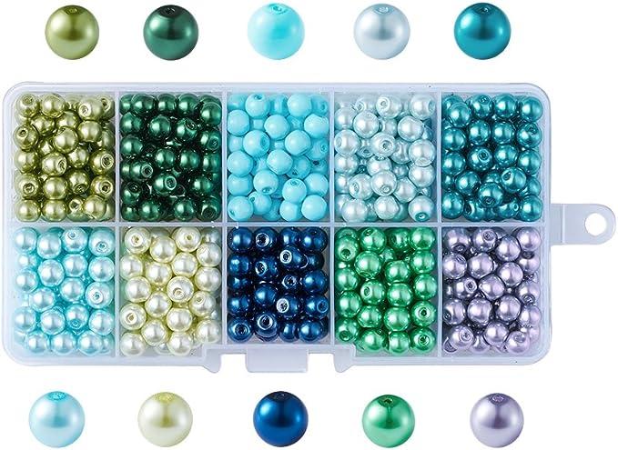 Glaswachsperlen Perles Violet Brillant 8 mm 100 pièces bijoux bricolage 140