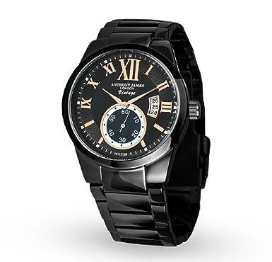 anthony james vintage black men s dress watch smart durable anthony james vintage black men s dress watch smart durable design for the modern man