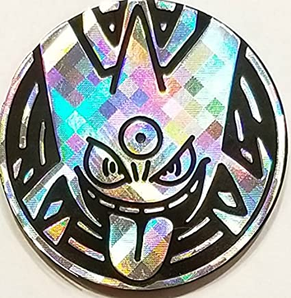 Mega Gengar Coin From The Pokemon Trading Card Game Large Size Silver Pixel Holofoil