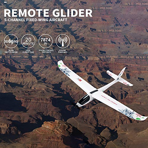 raillery WL XK-A800 EPO 5CH Glider Wingspan, Auvem Fixed Wing 780mm Remote Control Airplane Flying Toy Drone, 3D/6G switchable System by raillery (Image #5)