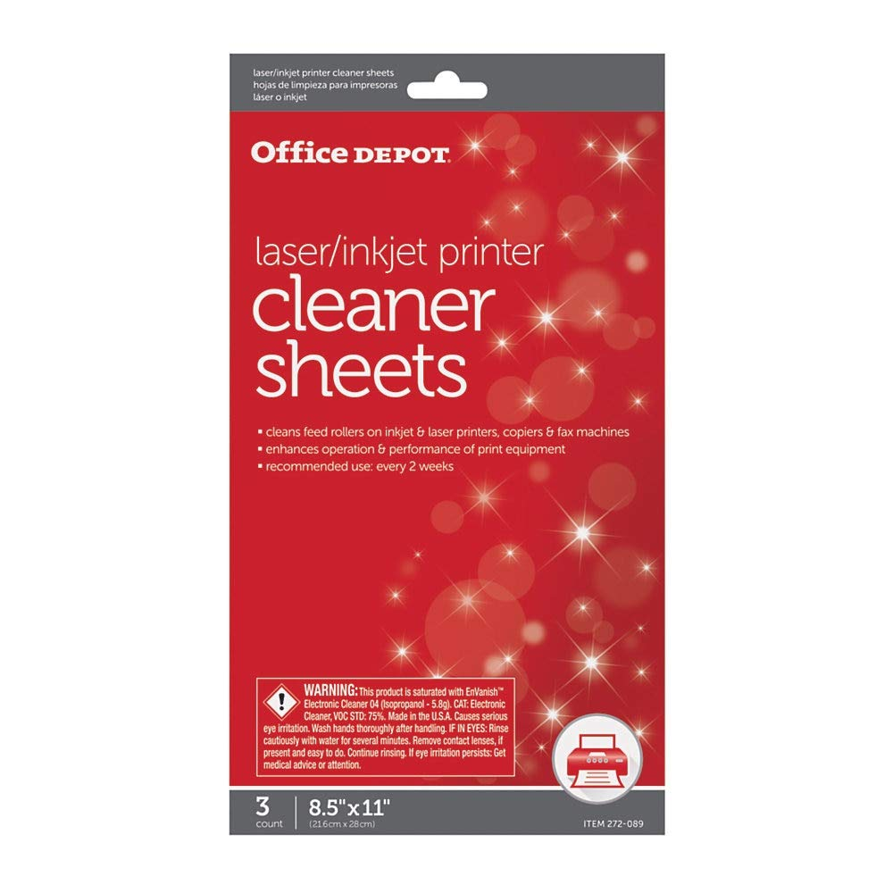 Amazon.com: Office Depot OD2537 Printer/Copier/Fax Cleaning ...