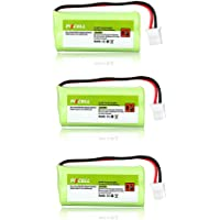 3X Cordless Home Phone Battery Pack aaa 2.4v 800mah Compatible with VTech BT166342 BT266342