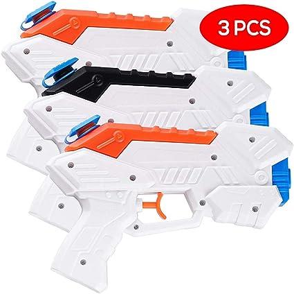 3 Pack Pistolas de Agua - Colores Brillantes - Ideal para Niños y Adultos Piscina, Playa Fiesta y Agua al Aire Libre Actividad de diversión: Amazon.es: Juguetes y juegos
