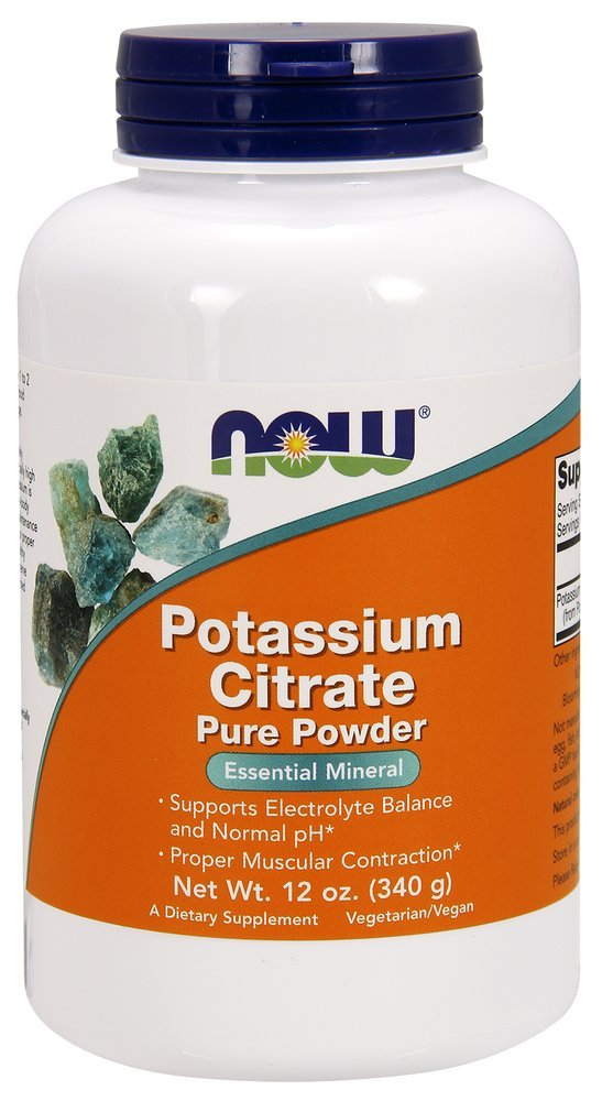 NOW Foods - Potassium Citrate Pure Powder - 12 oz.