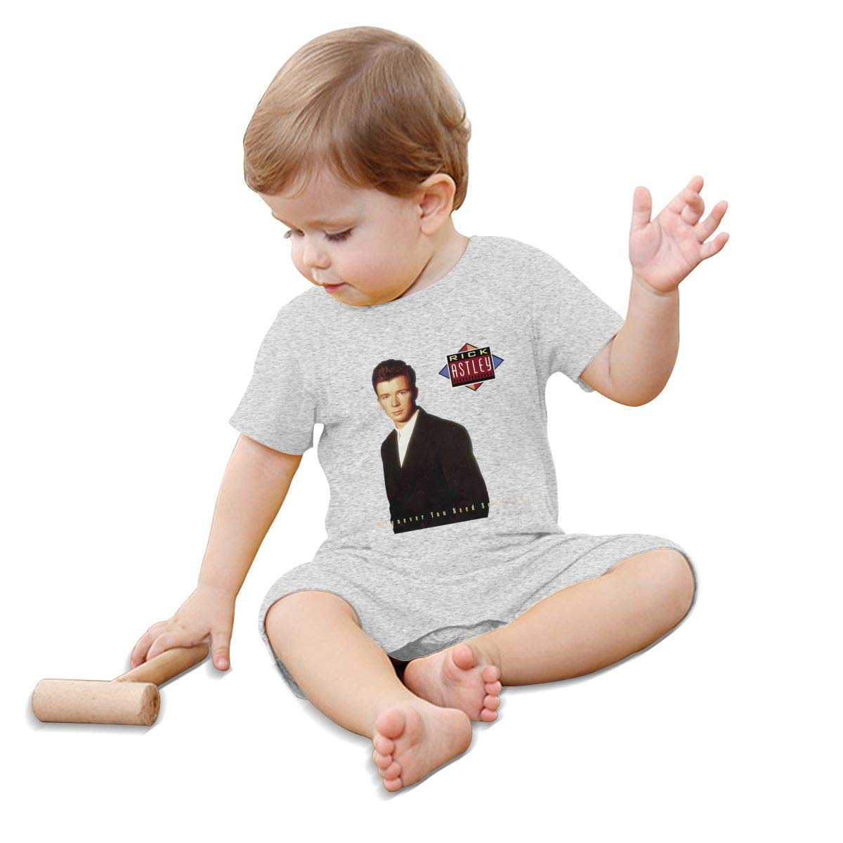 Honghuawenhua Baby Adorable Infant Soft Short Sleeves Bodysuit Double Print