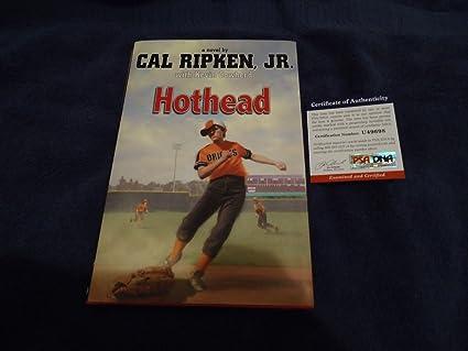 Authentic signed cal ripken jr hothead book baltimore orioles.