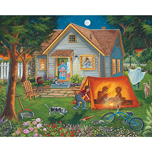 - Bits and Pieces - 300 Large Piece Jigsaw Puzzle for Adults - Backyard Camping - Family Fun House Puzzle - by Artist Christine Carey - 300 pc Jigsaw