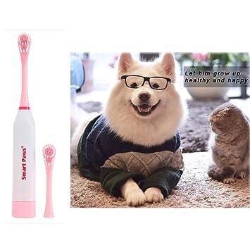 OER Cepillo de Dientes para Mascotas Cepillo de Dientes eléctrico para Mascotas Cuidado Dental Gato Perro de Piel Suave Cepillo de Dientes Cuidado Oral ...