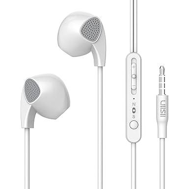 UiiSii U1 Auriculares de botón con micrófono y control de volumen para los dispositivos de Apple ...