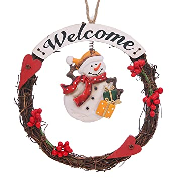 Adorno de Navidad Santa Muñeco de Nieve Cartel Colgante ...