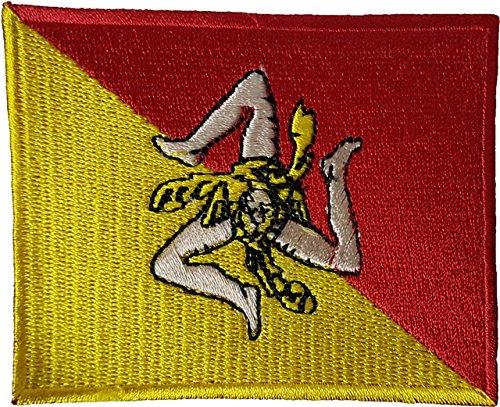 SICILY FLAG ITALIAN ITALY Sicilia APPLIQUE SOUVENIR EMBROIDE