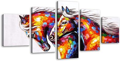BEAUTIFUL HORSE /& DOG SNOW wall art premium Canvas Australian made home decor