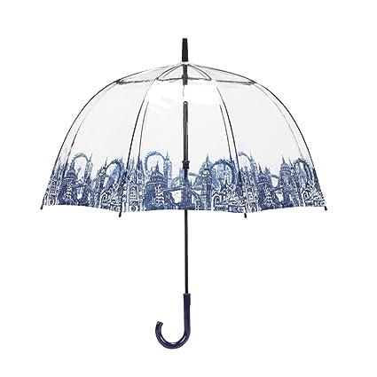 TLMY Paraguas Royal Royal Lady Jaula para pájaros Paraguas Transparente Dama Long Handle Paraguas Paraguas (