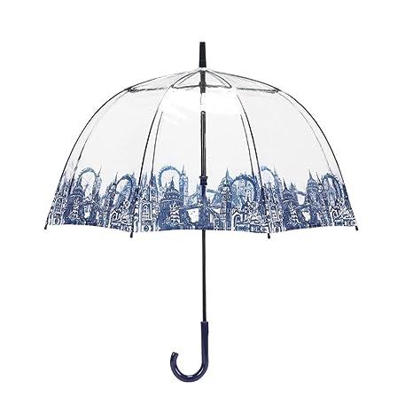 LXY Paraguas Royal Royal Lady Jaula para pájaros Paraguas Transparente Dama Long Handle Paraguas Paraguas (